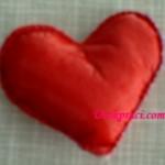 Сердечко-валентинка. Плоска іграшка.