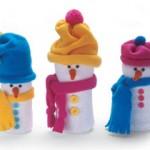 Сніговички з пластикових пляшок