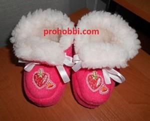 Теплі чобітки для дитини до 1 року власноруч d933d2b528d68